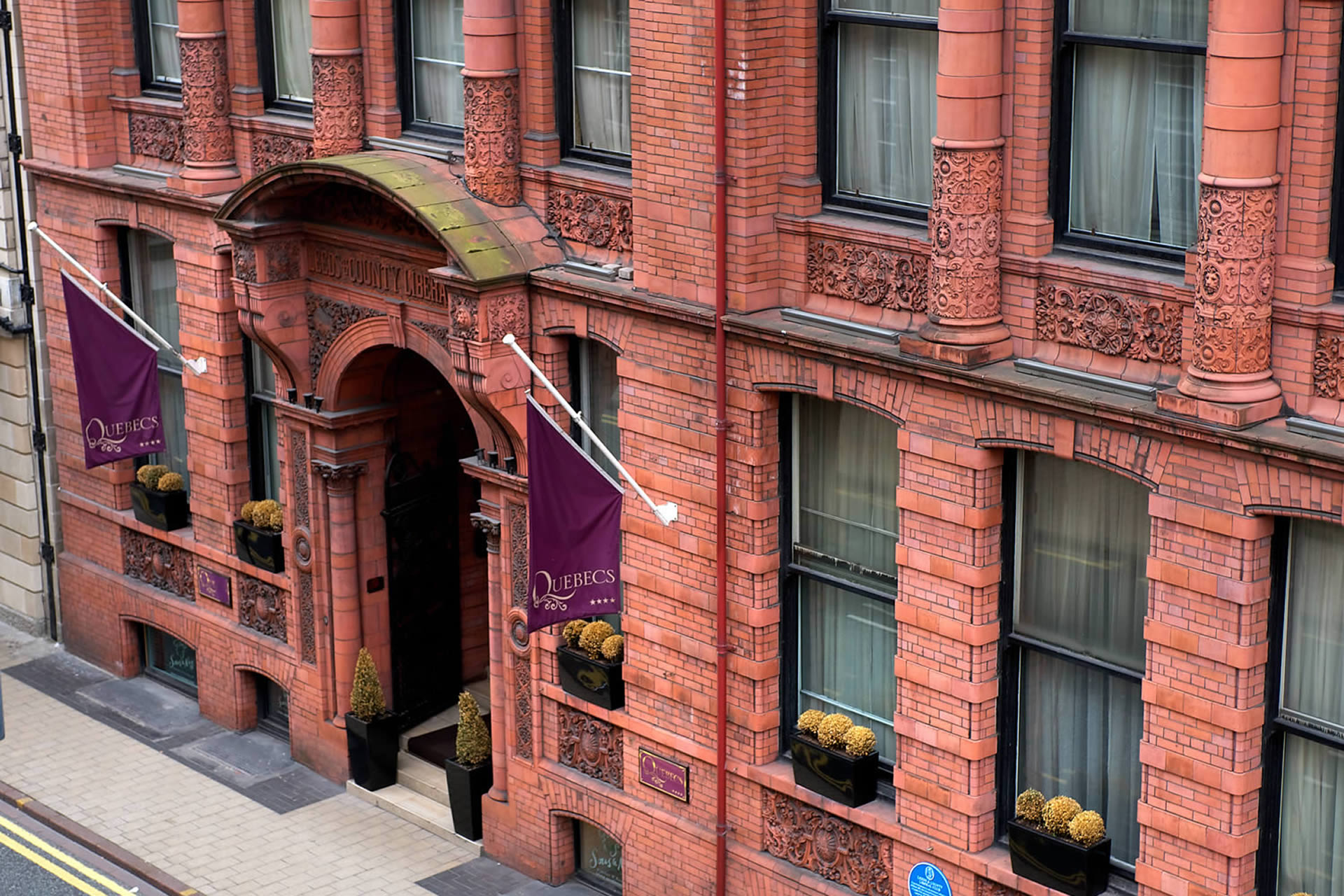Quebecs hotel leeds red brick