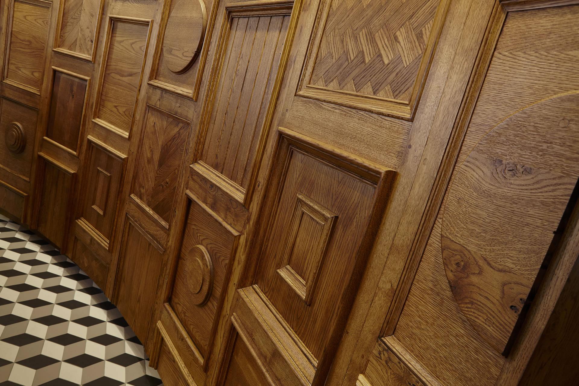 hotel indigo york wood panelling