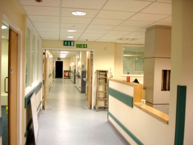 Airedale General Hospital Ward 6 corridor