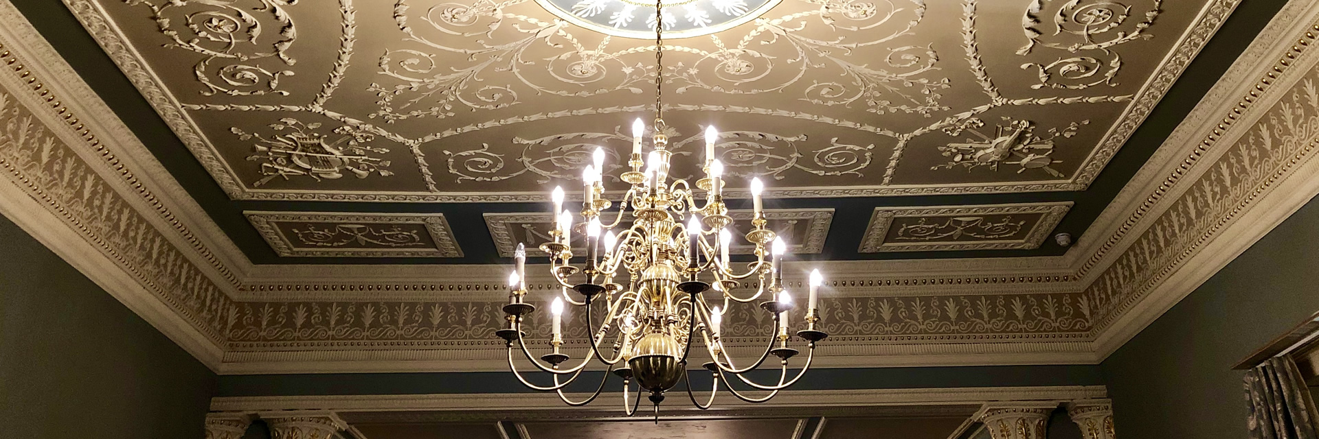 grantley hall chandelier historic building rennovation