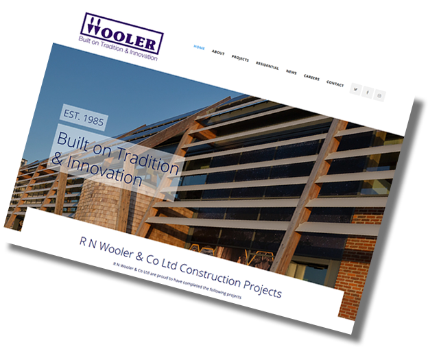 R N Wooler Launch New Website